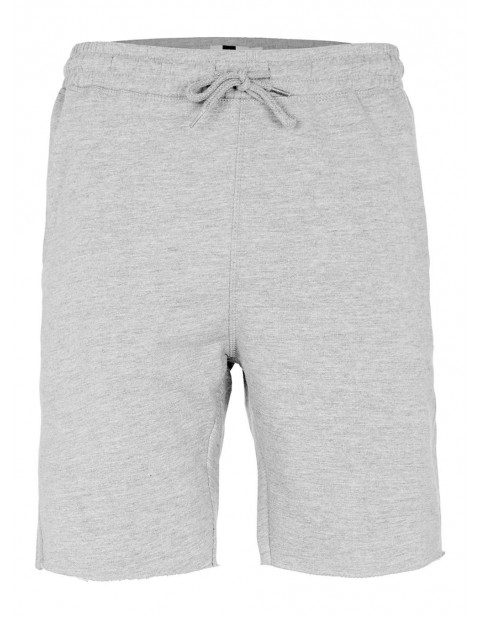 grey raw edge Jersey shorts-topman